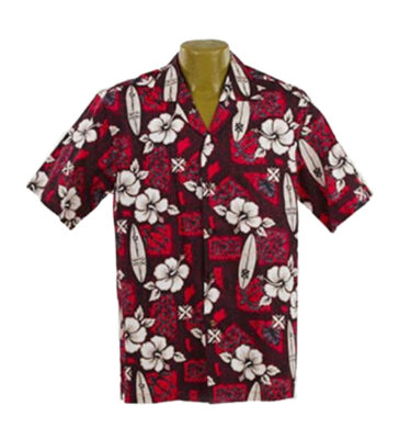 CAMISA HAWAIANA WINNIE FASHION HIBISCUS SURF