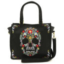 BOLSO LOUNGEFLY FLORAL SKULL TOTE BAG