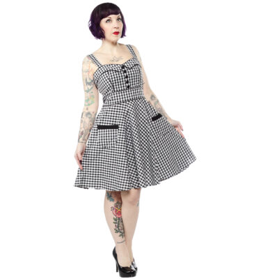 VESTIDO HELL BUNNY BRIDGET GINGHAM MINI DRESS