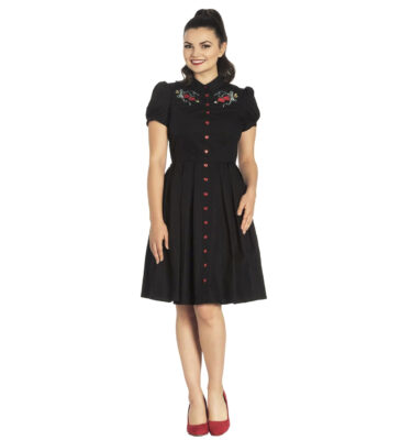 VESTIDO NEGRO HELL BUNNY AMORA DRESS IN BLACK