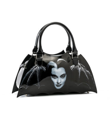 ROCK REBEL LILY MUNSTER BAT SHAPED HANDBAG