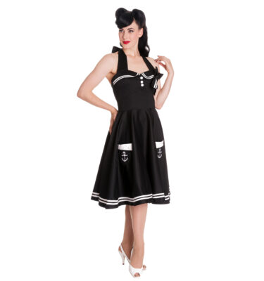 VESTIDO NEGRO HELL BUNNY MOTLEY 50'S DRESS