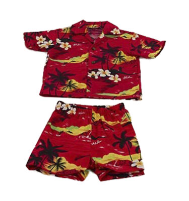 CONJUNTO UNISEX WINNIE FASHION HAWAIIAN SUNSET CABANA SET SHIRT & PANTS