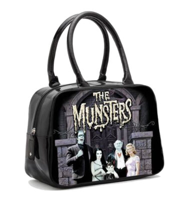 ROCK REBEL THE MUNSTERS BOWLER HANDBAG