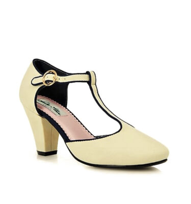 COLLECTIF LULU HUM VALERIE T-BAR HEEL IVORY