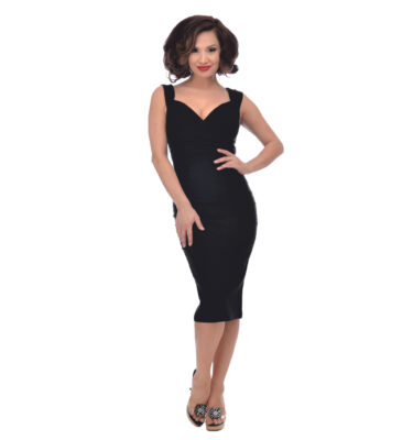 VESTIDO STEADY CLODING DIVA WIGGLE DRESS IN BLACK