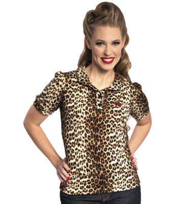 TOP STEADY LOUISE CHERRY SWEATER IN LEOPARD