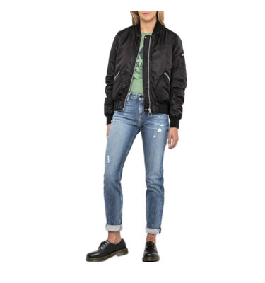 BOMBER LEE® SATEEN PICH BLACK - WOMEN'S JACKET