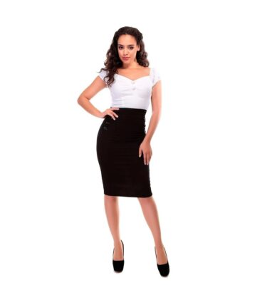 FALDA COLLECTIF HILDA 50S STYLE BLACK PENCIL SKIRT