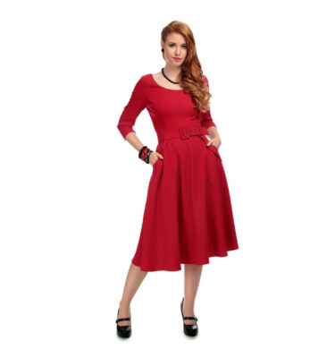 VESTIDO COLLECTIF VINTAGE IVY CREPE SWING DRESS