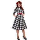VESTIDO COLLECTIF MAINLINE SUZANNE GINGHAM SWING DRESS