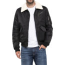 CAZADORA AVIADOR LEE® FLIGHT ZIP JACKET PITCH BLACK