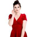 VESTIDO HELL BUNNY JOANNE RED VELVET DRESS