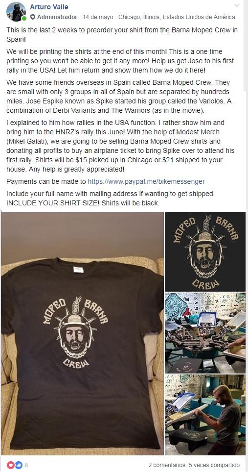 Camisetas impresas en EEUU para financiar el viaje de la fraternidad