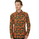 CAMISA RUN & FLY 60S RETRO FLORAL POPPY LONG SLEEVE SHIRT