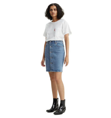 FALDA VAQUERA LEVI'S® BUTTON THROUGH MOM SKIRT