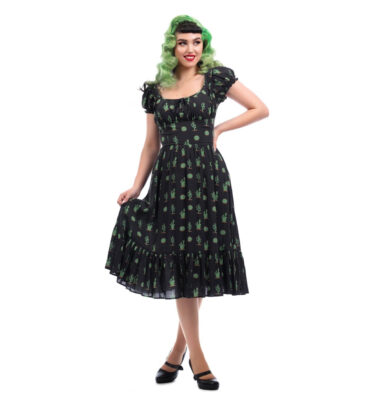 VESTIDO COLLECTIF MAINLINE CARMEN CACTUS SWING DRESS