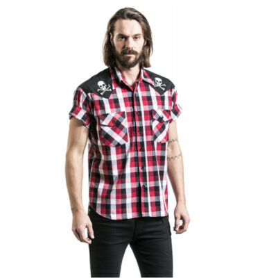 CAMISA STEADY CHAOS WESTERN SHORT SLEEVED IN BLACK/RED