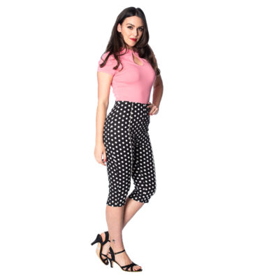 PANTALON BANNED POLKA DOT LOVE CAPRIS