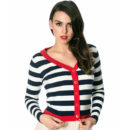 CARDIGAN BANNED SAIL AWAY NAVY/CREAM WITH RED HEM