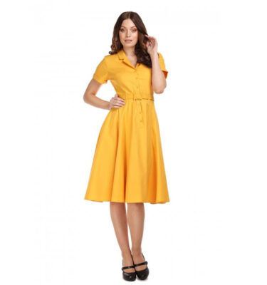 VESTIDO COLLECTIF CATERINA VINTAGE COTTON SWING DRESS