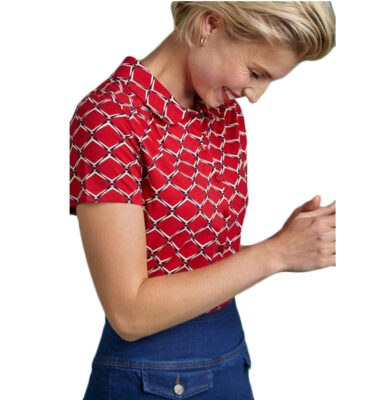 BLUSA KING LOUIE BLOUSE SCOPE CHILI RED SHORT SLEVEES