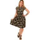 VESTIDO RUN & FLY BLACK LLAMA PRINT DRESS