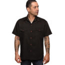 CAMISA STEADY CLASSIC PIC STICH WESTERN IN BLACK/RED