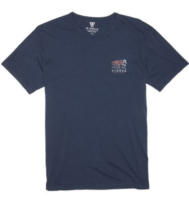 CAMISETA VISSLA OPEN LATE VINTAGE WASH TEE STRONG BLUE