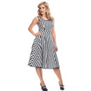 VESTIDO COLLECTIF VINTAGE LUCILLE STRIPED SWING DRESS