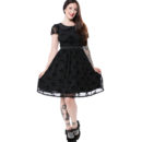 VESTIDO SOURPUSS BAT FLUTTER SHIFT DRESS