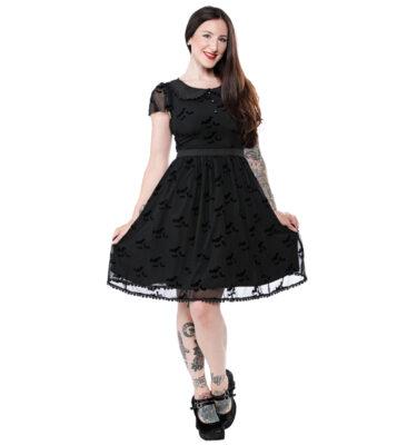 VESTIDO SOURPUSS BAT FLUTTER SHIFT DRESS