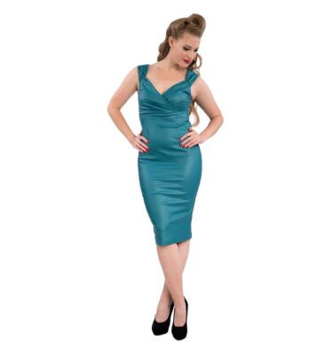 VESTIDO STEADY THE DEVIL WEARS DIVA DRESS IN TEAL