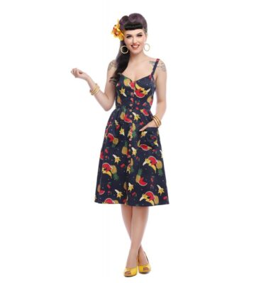 VESTIDO COLLECTIF MAINLINE KIMBERLY POLKA FRUIT DRESS