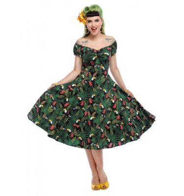 VESTIDO COLLECTIF MAINLINE DOLORES TROPICALIA DOLL DRESS