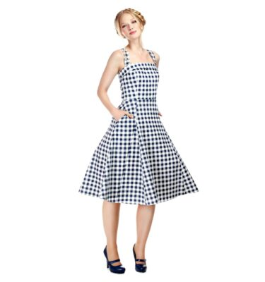 VESTIDO COLLECTIF MAINLINE PENELOPE GINGHAM SWING DRESS