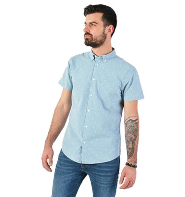 CAMISA WRANGLER® 1PKT LIGHT INDIGO SHORT SLEEVE