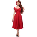 VESTIDO COLLECTIF CLASSIC RED DOLORES DOLL DRESS