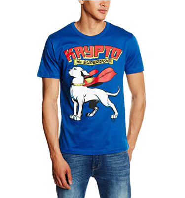 CAMISETA LOGOSHIRT KRYPTO THE SUPERDOG BLUE SHIRT