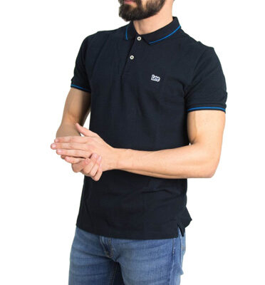 POLO LEE® BLACK PIQUÉ POLO REGULAR FIT
