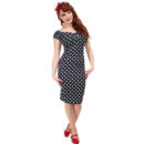 VESTIDO COLLECTIF MAINLINE DOLORES 50s DOT PENCIL DRESS