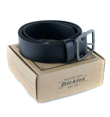 CINTURÓN DICKIES EAGLE LAKE LEATHER BELT BLACK