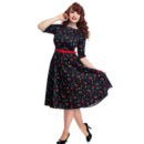 VESTIDO COLLECTIF SUZANNE CHERRIES & BLOSSOM SWING DRESS