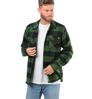 CAMISA DICKIES SACRAMENTO FLANNEL GREEN COLOR