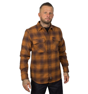 CAMISA DICKIES WANETA FLANNEL BROWN DUCK COLOR