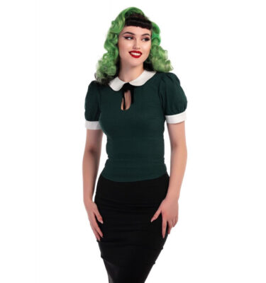 TOP COLLECTIF VINTAGE KHLOE IN GREEN