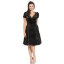 VESTIDO HELL BUNNY GLITTERBELLE VELVET BLACK DRESS