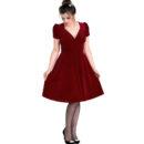 VESTIDO HELL BUNNY JOANNE BURGUNDY VELVET DRESS