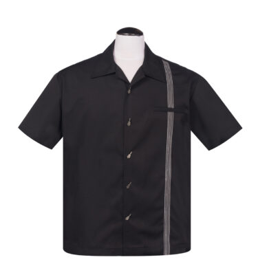 CAMISA STEADY BOWLING THE SIX STRING BUTTON UP IN BLACK