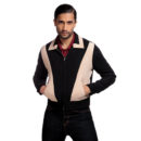 CAZADORA COLLECTIF MENSWEAR JONATHAN JACKET BLACK&CREAM